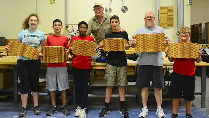 Youth Center hosts first-ever woodworking camp